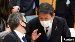 امریکی وزیر خارجہ اینٹنی بلنکن اور جاپانی وزیر خارجہ ٹوشی مٹسو موٹیگی