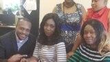 Monalisa akiwa katika ofisi za idhaa ya Kiswahili ya VOA.