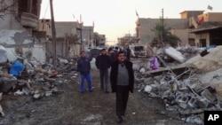 受到襲擊的難民營