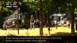 Detained Turkish Soldiers Arrive at Court