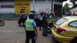 Policia asedia a Nicaragüenses que regresan de marcha por la unidad en Costa Rica.