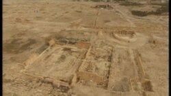 Aerial Footage of Ancient City of Palmyra, Syria