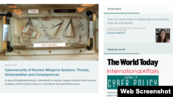 英国伦敦的知名智库皇家国际事务研究所网站截图
