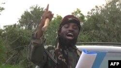 Le présumé Abubakar Shekau, dans une vidéo diffusée par l'AFP (AP)