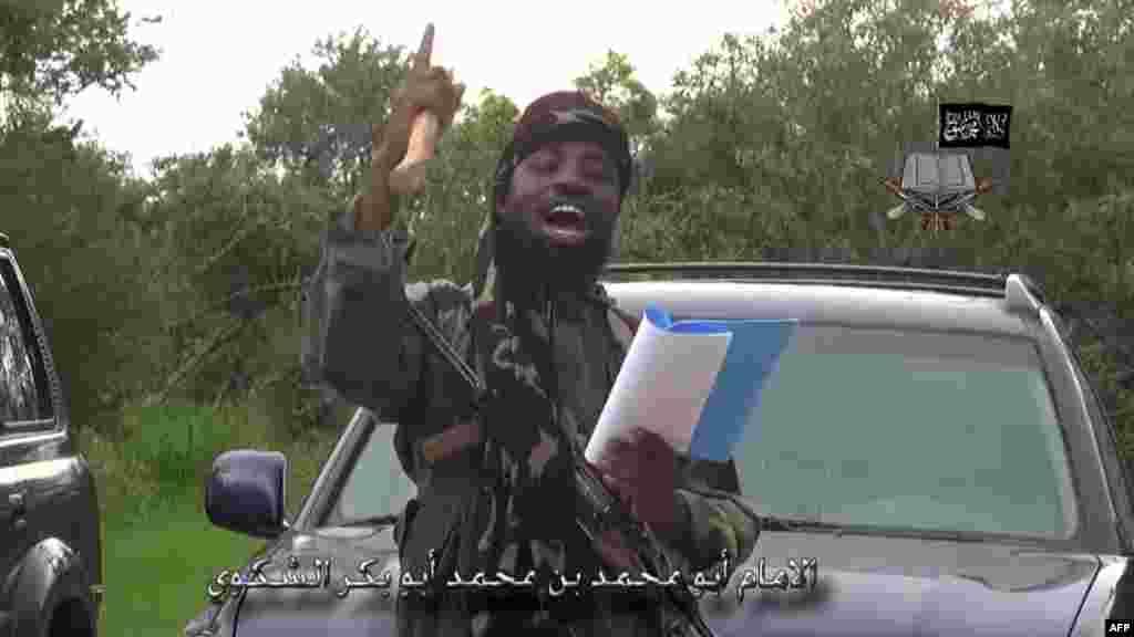 Shugaba Boko Haram Abubakar Shekau, 24 ga Agusta, 2014.