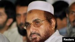 Hafiz Mohammad Saeed, pemimpin Jamaat-ud-Dawa di Islamabad, 22 Mei 2005 (Foto: dok). Pemerintah AS akan memberikan hadiah sebesar 10 juta dolar bagi siapapun yang dapat menemukan tersangka pelaku teroris Mumbai 2008 ini.