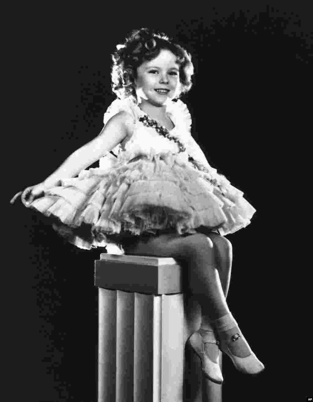 Shirley Temple is shown in an undated photo.