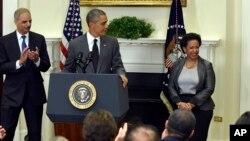Барак Обама представляет Лоретту Линч
