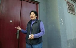 Gao Ge, sister of dissident artist Ai Weiwei, outside the family home in Beijing, China, April 14, 2011