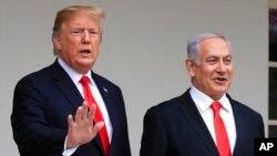 TT Donald Trump và Thủ tướng Israel Benjamin Netanyahu.