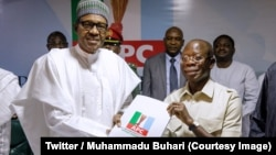 Le président nigérian Muhammadu Buhari a officiellement déposé sa candidature à la primaire de son parti, Abuja, Nigeria, 12 septembre 2018. (Twitter/Muhammadu Buhari)