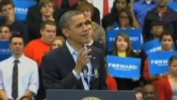 奥巴马罗姆尼在关键州旗鼓相当