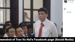 Luật sư Trần Vũ Hải trong phiên xét xử từ ngày 13-15/11 ở Nha Trang