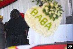 Former First Lady Grace Mugabe at the burial site of her former President Robert Mugabe