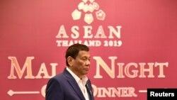 Tổng thống Philippines Rodrigo Duterte tại Thượng đỉnh ASEAN lần thứ 34 ở Bangkok, Thái Lan, ngày 22/06/2019.
