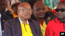 Le président Jacob Zuma lors d'un rallye à Bloemfontein, en Afrique du Sud, le 1er mai 2017.