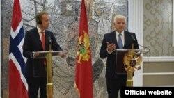 Ministar inostranih poslova Norveške Borge Brende i potpredsjednik Vlade Crne Gore Duško Marković (gov.me)