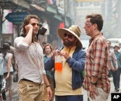 (L to R) Bradley Cooper as Phil, Zach Galifianakis as Alan and Ed Helms as Stu in Warner Bros. Pictures' and Legendary Pictures' comedy THE HANGOVER PART II a Warner Bros. Pictures release.