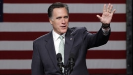Republican presidential candidate, former Massachusetts Gov. Mitt Romney speaks at Lansing Community College in Lansing, Mich., May 8, 2012.