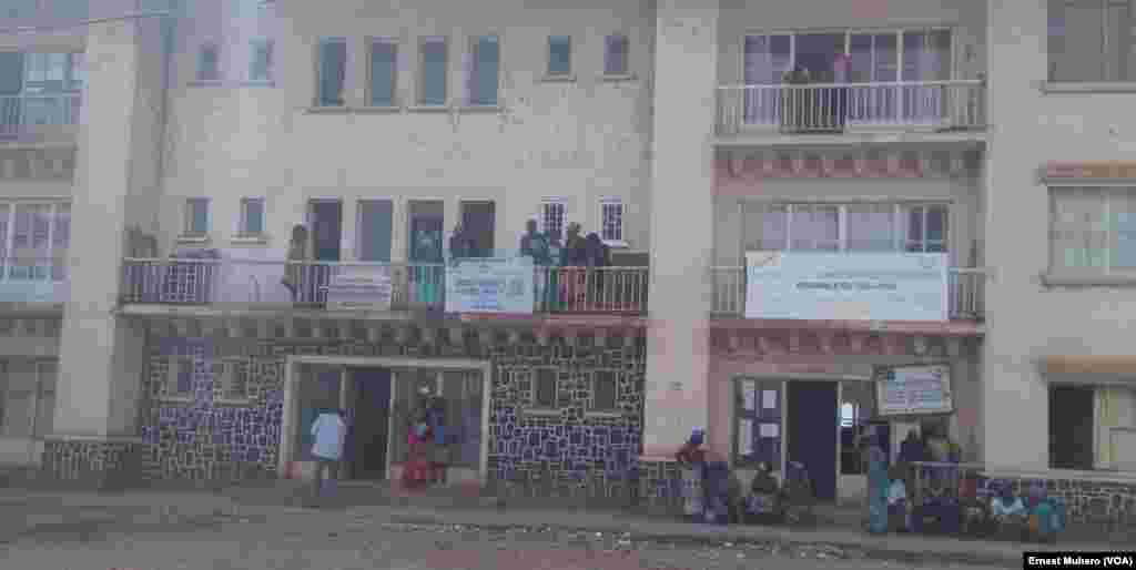 Les bureaux de l'Etat à Labotte ont ouvert leurs portes, à Bukavu, le 2 août 2017. (VOA/Ernest Muhero)