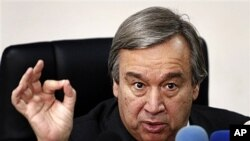 UN High Commissioner for Refugees Antonio Guterres (file photo)