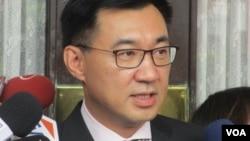 台湾在野党国民党主席江启臣(美国之音张永泰拍摄)