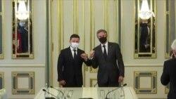 美國務卿布林肯訪基輔力挺烏克蘭