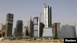 The King Abdullah Financial District, intended as a mini-Dubai, remains a construction site and lacks tenants a year after its scheduled completion just north of Riyadh, Saudi Arabia.