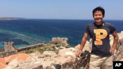 تصویری از زی یو وانگ، دانشجوی مقطع دکترا در دانشگاه پرینستون آمریکا که در تهران دستگیر شد.