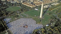 The AIDS Memorial Quilt on the National Mall in Washington, D.C. in 1992