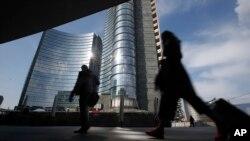 Le quartier d'affaires Porta Nuova à Milan, en Italie, le 11 mars 2016.