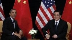 دیدار باراک اوباما با رییس جمهوری چین