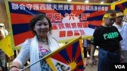 有團體在7.1遊行期間設置街站,呼籲關注西藏人權問題(資料圖片)