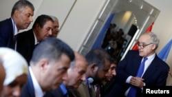 Ghassan Salame, U.N. Libya envoy, speaks during a meeting in Tunis, Tunisia, Sept. 26, 2017.