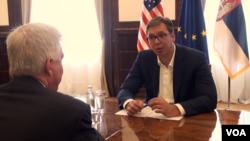 Razgovor predsjednika Srbije Aleksandra Vučića i američkog ambasadora u Srbiji Kyle Scotta