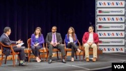 Young American Muslims talking about religion, politics and terrorism at a recent VOA discussion in Washington D.C.