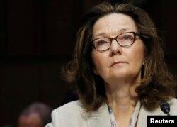 Gina Haspel, directora interina de la CIA, testifica en el Senado de EE.UU. en su audiencia de confirmación para ocupar el cargo en reemplazo de Mike Pompeo.
