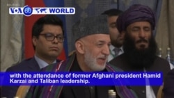 VOA60 World PM - Russia: Taliban-Afghan talks commence in Moscow