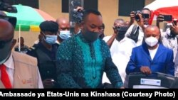 Ministre ya Santé Dr. Eteni Longondo, Kinshasa, 16 mai 2020. (Facebook/Ambassade des Etats-Unis)