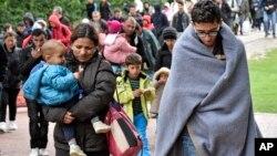 2015年9月6日到达德国多特蒙德的移民