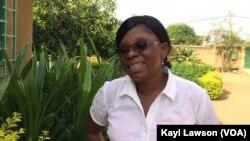 Rita Kangba, responsable de la maison Ste Monique à Dapaong, au Togo, le 15 mai 2017. (VOA/Kayi Lawson)