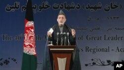 阿富汗總統卡爾扎伊。(資料圖片)