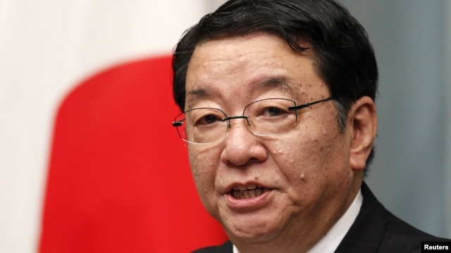 Japan's Chief Cabinet Secretary Osamu Fujimura speaks during a news conference in Tokyo, September 2, 2011.