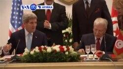 VOA60 AFIRKA: Tunisia Sakataren Harkokin Waje Amurka John Kerry Da Ke Ziyara A Kasar Ya Ce, Nuwamba 13, 2015