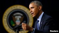 Predsednik SAD Obama u obraćanju prisutnima na skupu povodom globalne zdravstvene bezbednosti u Vašingtonu 26. septembar 2014.