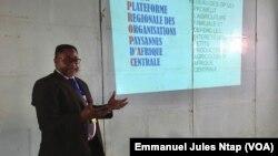 Célestin Nga, secrétaire-exécutif de la Propac à Mbalmayo, le 2 septembre 2021. (VOA/Emmanuel Jules Ntap)