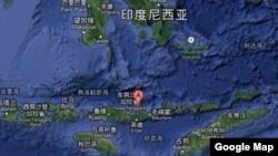 印度尼西亚帕卢厄岛罗卡滕达火山 (谷歌地图)