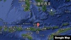 印度尼西亞帕盧厄島羅卡滕達火山 (谷歌地圖)