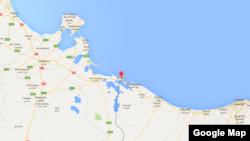 Ras Jedir, entre la frontière de la Libye et la Tunisie.
