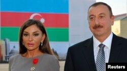 Le président azerbaïdjanais Ilham Aliev et sa femme Mehriban Alieva nommée au poste de vice-présidente. 7 Octobre 2011.